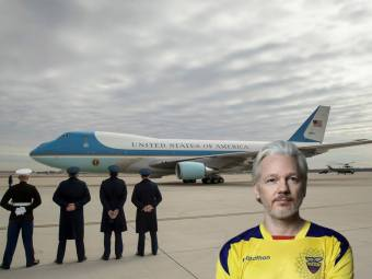 Julian Assange - Airforce One