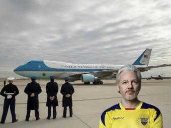 Julian Assange - Airforce One